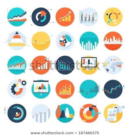 statistics icon flat design stock photo © wad