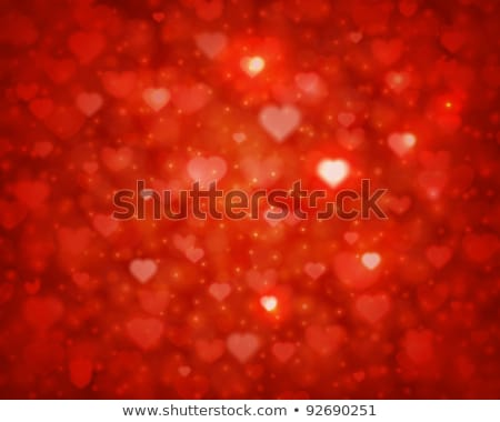 Color Bokeh on red background with hearts. EPS 10 Stock photo © beholdereye