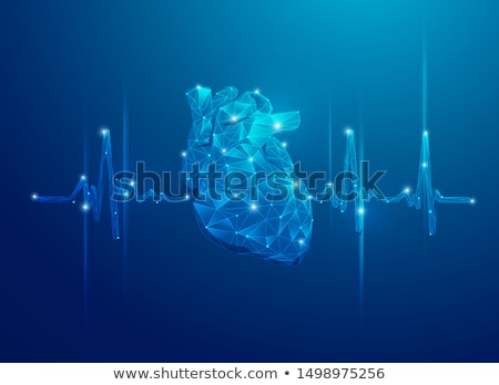 mesh wireframe wave technology background vector design illustra Stock photo © SArts