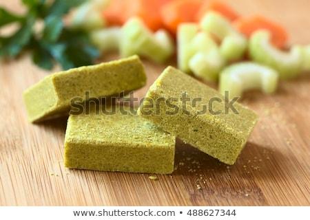 Kockák tyúk papír étel tér senki Stock fotó © Digifoodstock