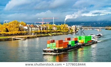 vracht · landschap · schip · skyline · meer · golf - stockfoto © joyr