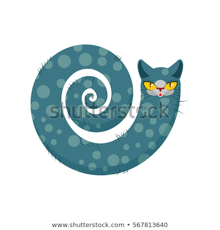 cat fabulous isolated long tail of pet on white background stock photo © maryvalery