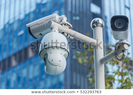 cctv · cámara · moderno · edificio · fachada · seguridad - foto stock © stevanovicigor