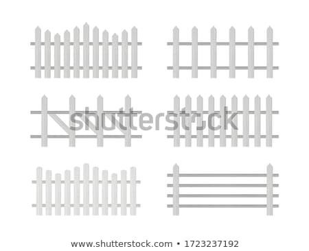 Wooden picket fence Stock photo © stevanovicigor