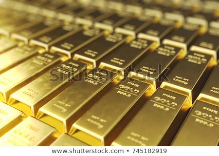1000 goud bars succes business financieren Stockfoto © idesign