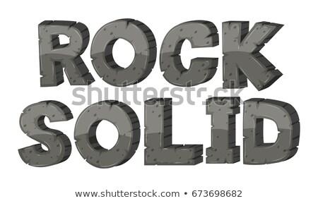 Carattere design rock solido illustrazione sfondo Foto d'archivio © bluering