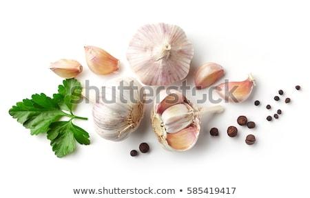 чеснока · аромат · трава · лоток · таблице · фон - Сток-фото © m-studio