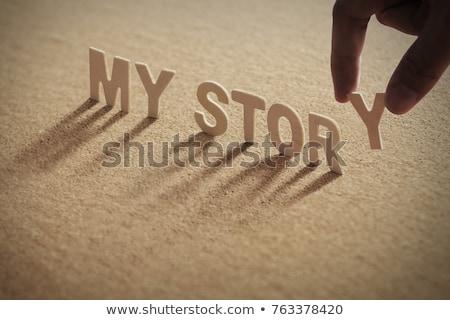 Benim öykü örnek ayarlamak basılı Stok fotoğraf © 72soul