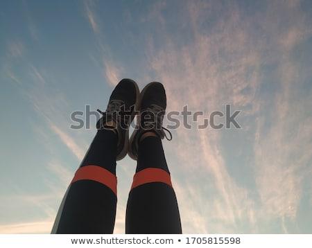 небесный ног красивой молодые брюнетка женщину Сток-фото © lithian