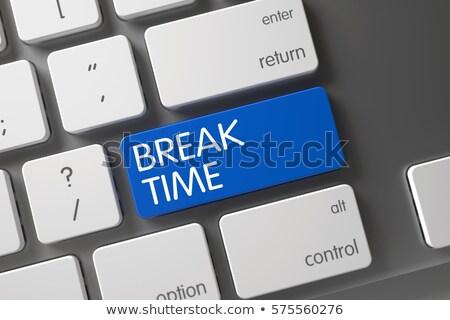Keyboard with Blue Keypad - Break. 3D Illustration. Stock photo © tashatuvango