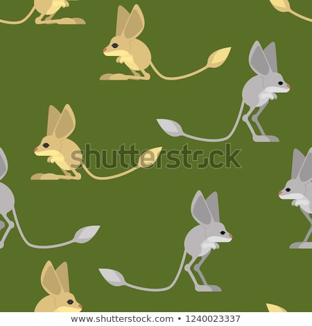 Jerboa pattern. Steppe animal background. Wildlife Texture Stock photo © popaukropa