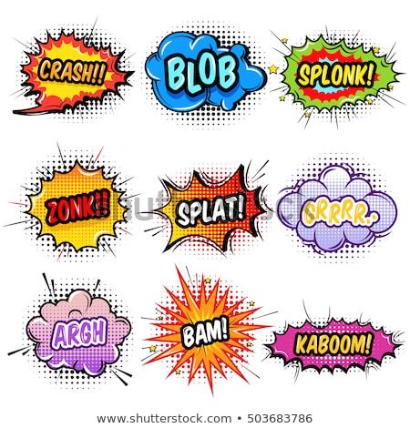 dessinées · texte · bombe · pop · art · style · illustration - photo stock © studiostoks