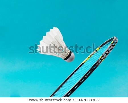 Racket badminton geïsoleerd witte achtergrond uitrusting Stockfoto © cynoclub