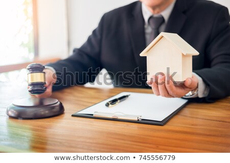 judge wags his finger as he lays down the law in estate lawsuit Stock photo © snowing