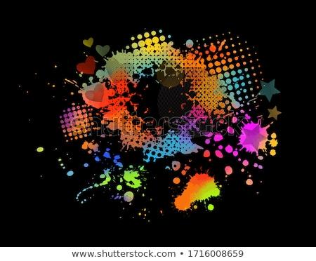Grunge regenboog gekleurd harten vector liefde Stockfoto © Sonya_illustrations