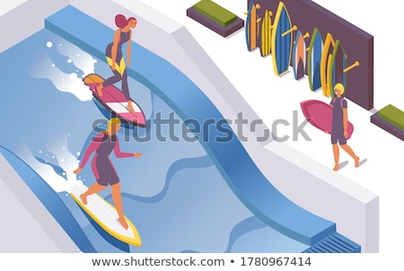 Business man standing in paddling pool Stock photo © IS2