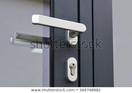 Drzwi uchwyt bezpieczeństwa blokady metal Zdjęcia stock © wavebreak_media
