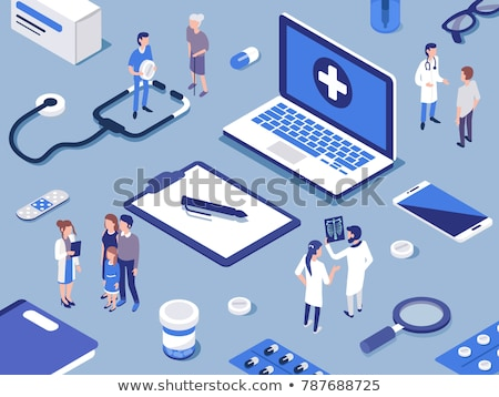 doctor workplace medical background health care vector medicine illustration stock photo © leo_edition