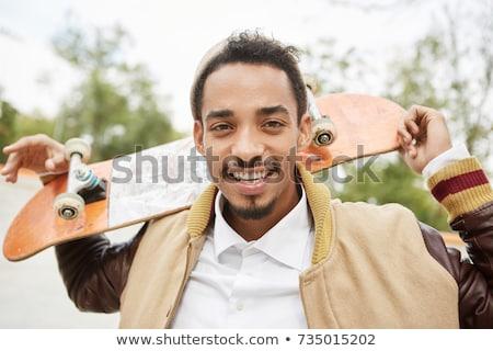 Skateboard jeunes élégant sport garçon Photo stock © keeweeboy