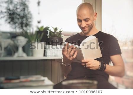 若い男 図書 ハンサム 小さな ストックフォト © TeoLazarev