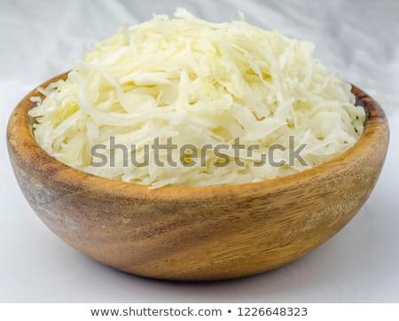 Tál savanyú káposzta fehér káposzta egészséges Stock fotó © Digifoodstock