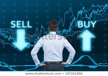 Comprar vender mercado de ações comércio negócio Foto stock © SArts