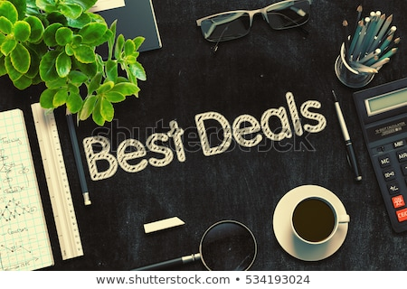 Best Offer Handwritten on Black Chalkboard. 3D Rendering. Stock photo © tashatuvango