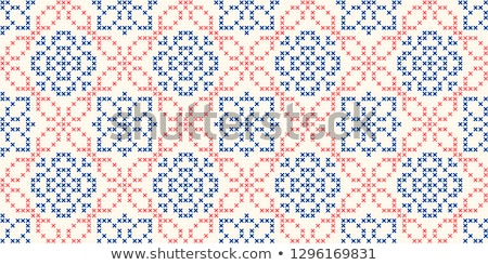 Woman with knitting counting stitches Stock photo © IS2