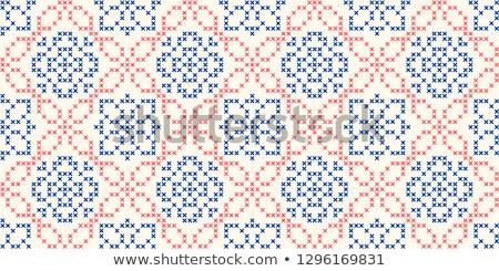 女性 ステッチ ウール 糸 白地 ストックフォト © IS2