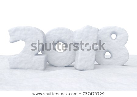 2018 written in the snow Stock photo © Oakozhan