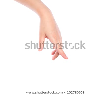 Hand of a woman pointing downwards Stock photo © wavebreak_media