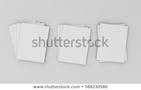 fermé · rouge · livres · isolé · blanche - photo stock © sonya_illustrations
