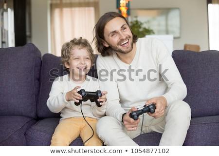Criança menino pai ensinar ilustração Foto stock © lenm