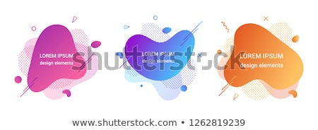 memphis style cards 3 Stock photo © Genestro