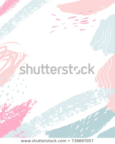 Foto stock: Blue Abstract Brush Stroke With Text Space