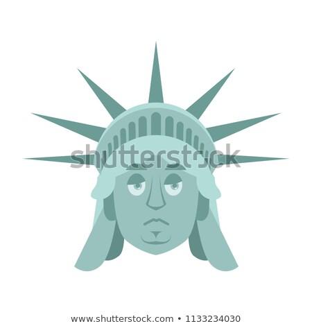 статуя свободы печально ориентир лице эмоций Сток-фото © popaukropa