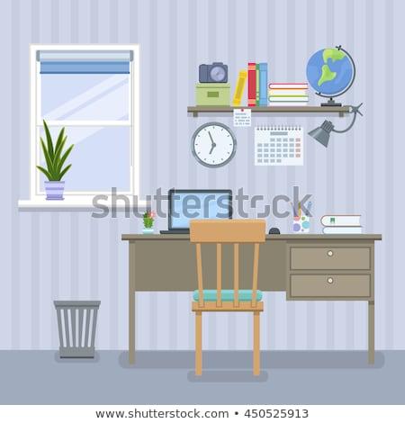 Creatieve freelancer werkplek interieur venster tabel Stockfoto © jossdiim