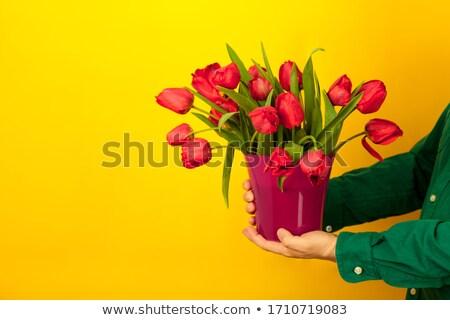 manos · dar · gracias · muchos · rojo - foto stock © artjazz