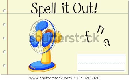 Spell it out fan Stock photo © bluering