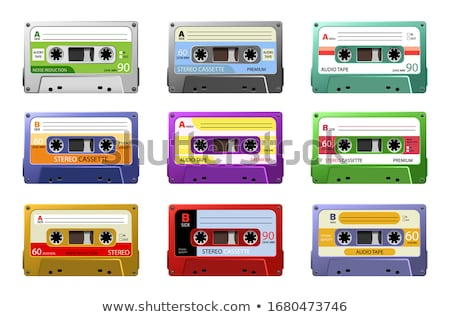 Taśmy starych kaseta biały retro dźwięku Zdjęcia stock © bdspn