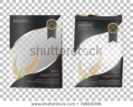 Cereals and Grains Bag Poster Vector Illustration Stock photo © robuart