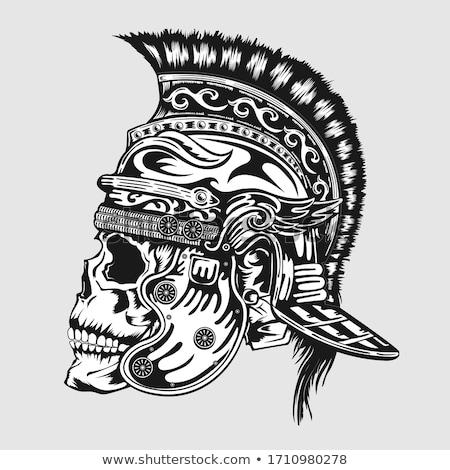 Skull Spartan Graphic Stock photo © Krisdog