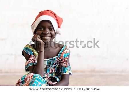 детей · счастливо · Рождества · мало · дети · красный - Сток-фото © liolle