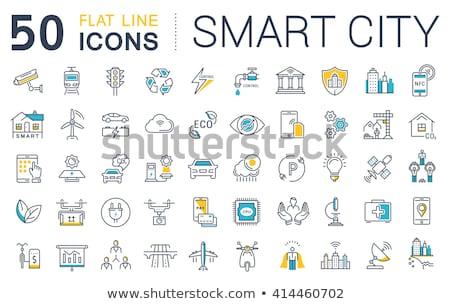 Stock photo: Digital vector eco transport icons set