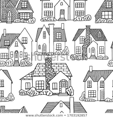 naadloos · monochroom · patronen · meetkundig · ontwerp · verpakking - stockfoto © ratkom