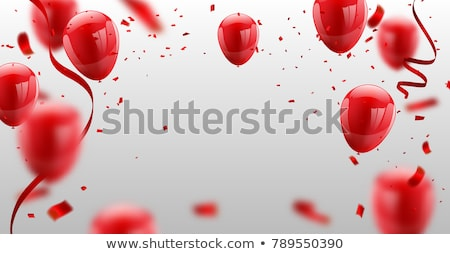 Carnival Colored 2018 Balloons Confetti Stock photo © limbi007