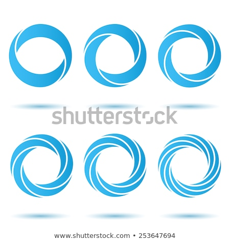 Abstract spiraal logo cirkel icon vector Stockfoto © blaskorizov