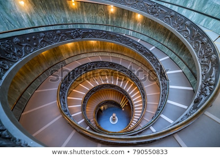 spiral stairs in the vatican museum stock photo © hsfelix