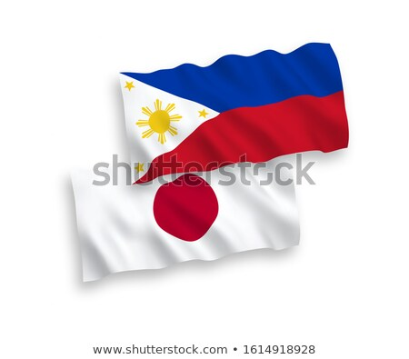 Iki bayraklar Japonya Filipinler yalıtılmış Stok fotoğraf © MikhailMishchenko