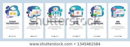 Duży przechowywanie danych app interfejs szablon bazy danych Zdjęcia stock © RAStudio
